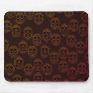 Multi-Skulls Ver.2 Dark Red Mouse Pad