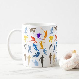 Multi-Sport Themed Silhouette Design Coffee Mug