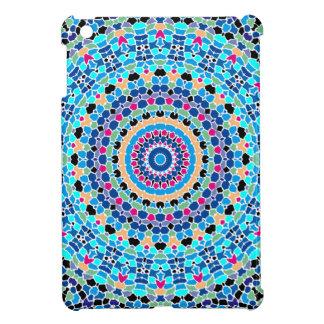 Multi Spots No. 1 Blue Kaleidoscope iPad Mini Cover