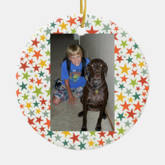 Multi Star First Day of School Custom Ornament