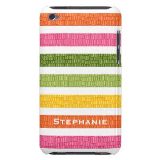 Multi Stripe Faux Croc iPod Touch 4g Case Cover