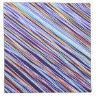 Multi Stripe Fractal Napkin