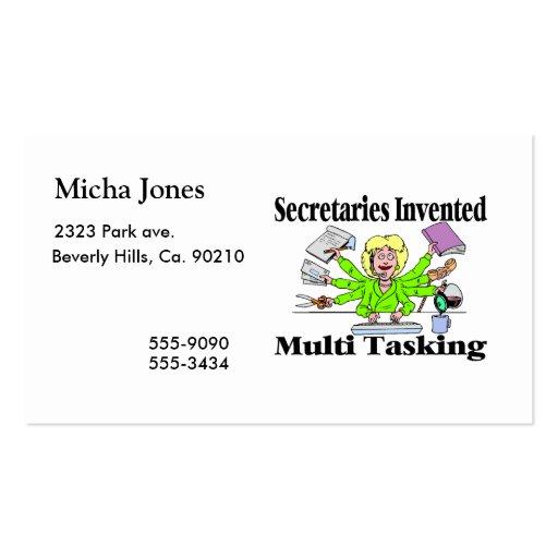 Multi Tasking de secrétaires Invented Carte De Visite