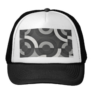 Multi Texture Look Geometric Mod Circles Trucker Hat
