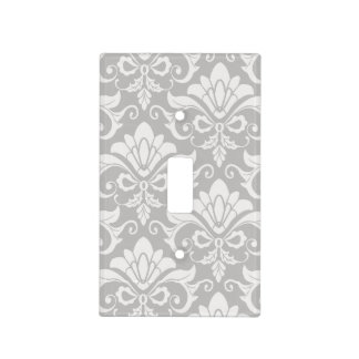 Multi-Tone Taupe Neutral Shabby Chic Damask Light Switch Cover