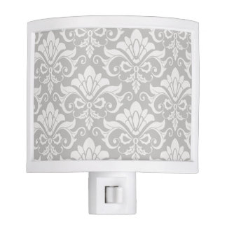 Multi-Tone Taupe Neutral Shabby Chic Damask Nite Lite