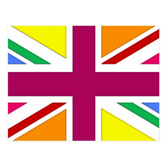 Multi Union Jack Postcard