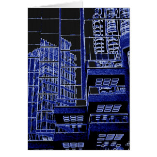 Multi-use card, blig city blue reflections @ front card