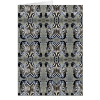 multi zebra head card
