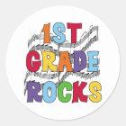 Multicolor 1st Grade Rocks Classic Round Sticker