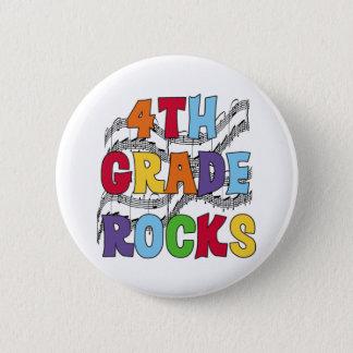 Multicolor 4th Grade Rocks 2 Inch Round Button
