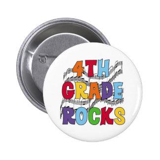 Multicolor 4th Grade Rocks Pinback Button