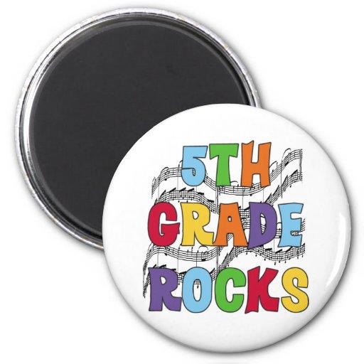 Multicolor 5th Grade Rocks Refrigerator Magnet