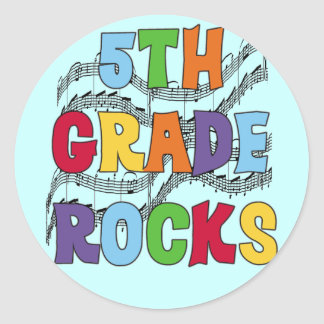 Multicolor 5th Grade Rocks T shirts and Gifts Classic Round Sticker