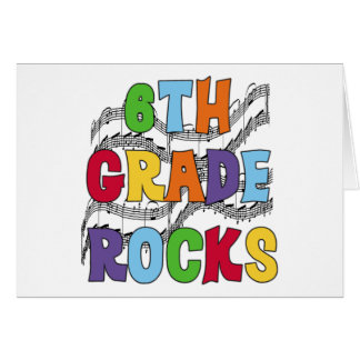 Multicolor 6th Grade Rocks Greeting Card