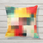 Multicolor Abstract Art Outdoor Pillow