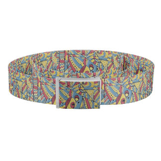 Multicolor Abstract Belt