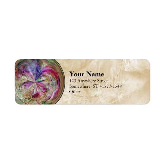 Multicolor Abstract Bubble Mandala Return Address Label