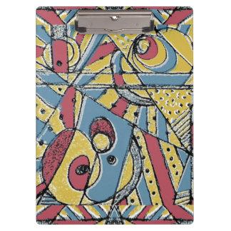 Multicolor Abstract Clipboard