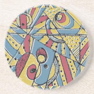 Multicolor Abstract Coaster