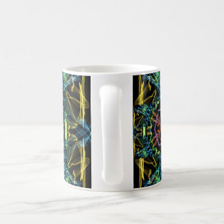 multicolor abstract coffee mug