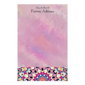 Multicolor Abstract Kaleidoscope Mandala Stationery
