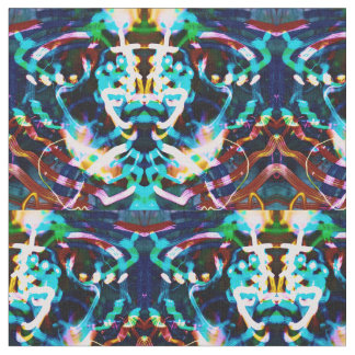 multicolor abstract moving light art print fabric