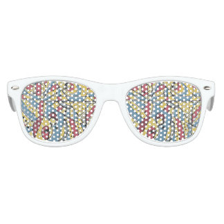 Multicolor Abstract Party Sunglasses