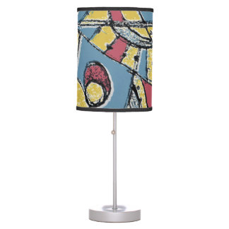 Multicolor Abstract Table Lamp
