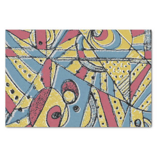 Multicolor Abstract Tissue Paper