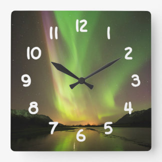 Multicolor Aurora Clock