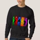 Multicolor Badminton Emblem Sweatshirt
