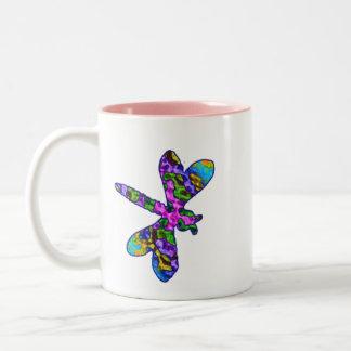Multicolor Batik  Dragonfly Mug