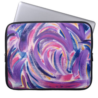 Multicolor Brushstrokes - Abstract Art Laptop Sleeve