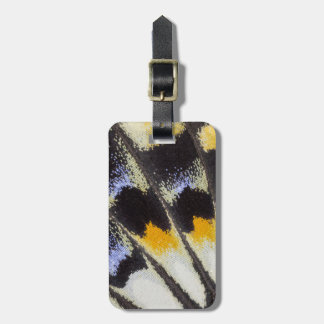 Multicolor butterfly wing pattern luggage tag