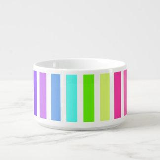 Multicolor Candy Striped Bowl