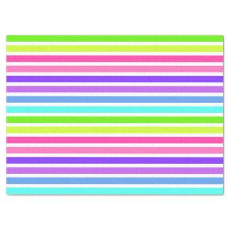 Multicolor Candy Striped Tissue Paper