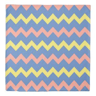 Multicolor chevron zigzag pattern duvet cover