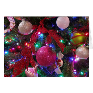 Multicolor Christmas Tree Colorful Holiday Card