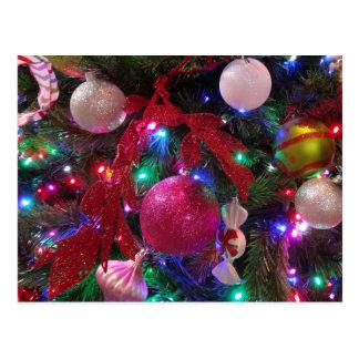 Multicolor Christmas Tree Colorful Holiday Postcard