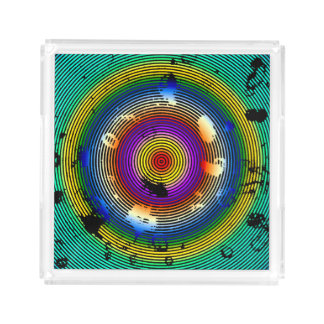 Multicolor Circled Pattern Acrylic Tray