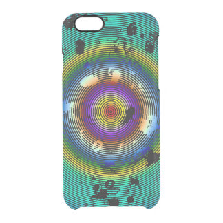 Multicolor Circled Pattern Clear iPhone 6/6S Case