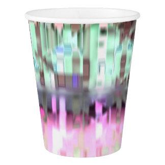 Multicolor City Reflection Paper Cup, 9oz Paper Cup
