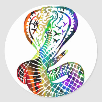 MULTICOLOR COBRA PRODUCTS CLASSIC ROUND STICKER
