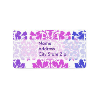 Multicolor Damask Label