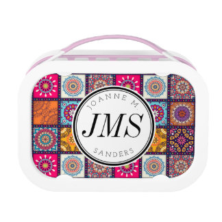 Multicolor Decorative Floral mandala tiles Lunch Box