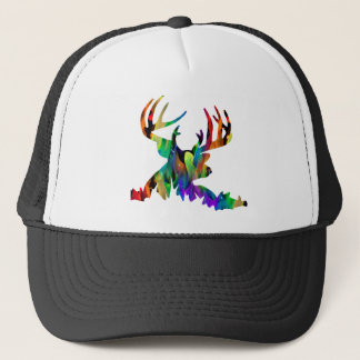 MULTICOLOR DEER HORN PRODUCTS TRUCKER HAT