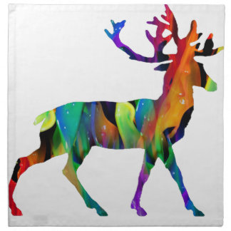 MULTICOLOR DEER PRODUCTS CLOTH NAPKINS