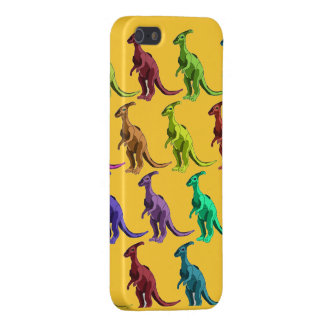 Multicolor dinosaurs on iphone 5 case