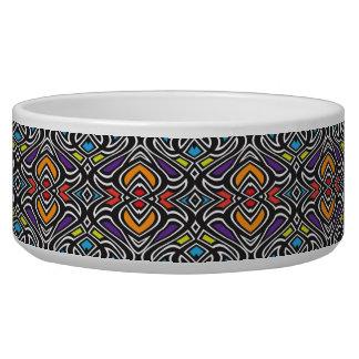 Multicolor dog bowl - 14 Box Swirl